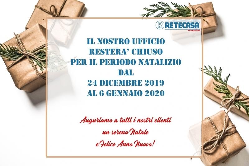 Chiusura ufficio per festività 2019/2020